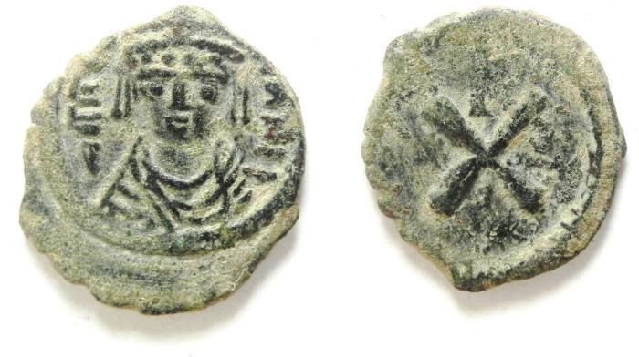Ancient Coins - BEAUTIFULL BYZANTINE MAURICE TIBERIUS DECANUMMIUM
