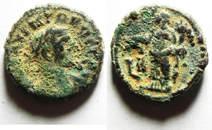 Ancient Coins - EGYPT , ALEXANDRIA POTIN TETRADRACHM, PROBUS  BEAUTIFUL AS FOUND