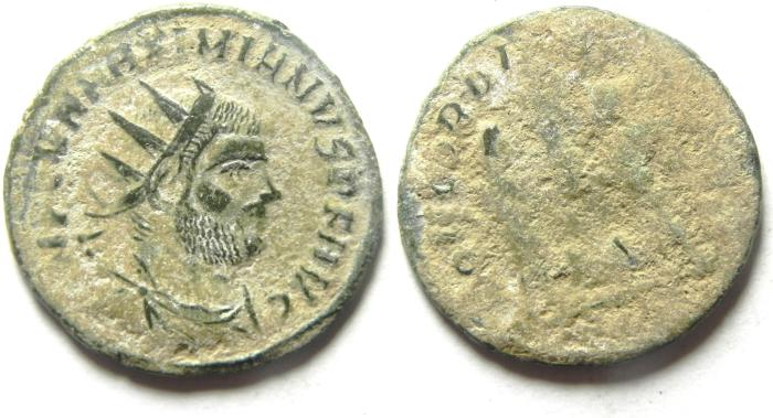 Ancient Coins - HIGH QUALITY MAXIMIAN AE ANTONINIANUS AS FOUND