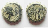 Ancient Coins - Antiochus IV Epiphanes 175 - 164 B.C. Ake Mint. AE 13