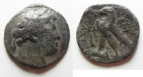 Ancient Coins - GREEK. Phoenicia. Tyre. AR half shekel (23mm, 6.33g. Struck in civic year 37 (90/89 BC).