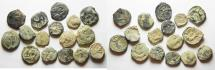 Ancient Coins - NABATAEAN LOT OF 16 AE COINS. AS FOUND. NICE QUALITY
