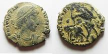 Ancient Coins - constantius ii ae cent. desert patina