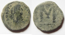 Ancient Coins - BYZANTINE. ANASTASIUS 491 - 518 A.D .  AE  FOLLIS. SMALL MODULE