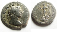 Ancient Coins - TRAJAN SILVER DENARIUS , NICE & WELL PRICED
