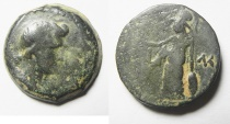 Ancient Coins - Egypt. Alexandria under Augustus. AE diobol (24mm, 10.56g). Struck in regnal year 41 (AD 11/12). Head of Livia