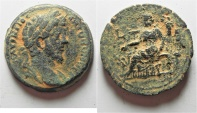 Ancient Coins - Egypt. Alexandria under Alexandria. Marcus Aurelius (AD 161-180). AE drachm  (32mm, 19.91g). Struck in regnal year 4 (AD 163/4).