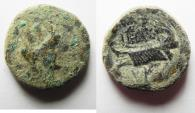 Ancient Coins - PHOENICIA. TYRE. 1ST CENTURY B.C AE 20. AS FOUND