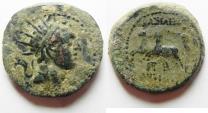 Ancient Coins - Antiochus IV Epiphanes 175 - 164 B.C. Ake Mint. AE 20