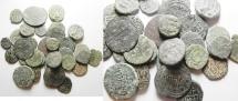 Ancient Coins - LOT OF 35 ISLAMIC AE FALS GROUP. NICE. UMMAYYAD - MAMLUK