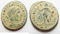 Ancient Coins - AS FOUND WITH DESERT PATINA. CONSTANTINE I AE FOLLIS. ROME MINT