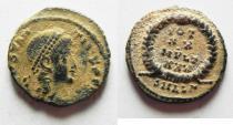 Ancient Coins - CONSTANS AE 4 . DESERT PATINA. ALEXANDRIA MINT