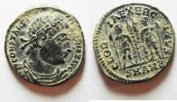 Ancient Coins - CHOICE CONSTANTINE I AE 3 . NICE ORIGINAL DESERT PATINA