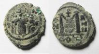 Ancient Coins - Arab-Byzantine. Ae Fals. Damascus mint