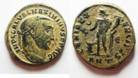 Ancient Coins - ORIGINAL DESERT PATINA: MAXIMINUS AE FOLLIS