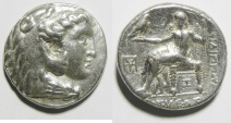 Ancient Coins - Kings of Macedon. Philip III Arrhidaeus (323-317 BC). Babylon mint during first satrapy of Seleukos I. AR tetradrachm (26mm, 15.52g). Struck c. 320-315 BC.