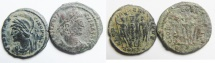 Ancient Coins - LOT OF 2 AE 3 . ROMAN, CONSTANTINE I
