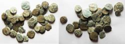 Ancient Coins - LOT OF 35 ANCIENT BRONZE COINS. MOSTLY JUDAEAN