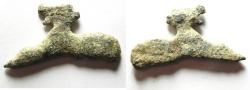 Ancient Coins - Ancient bronze casting slag from coin flan production. 34 x 18 mm, 5.25g. Found in Jordan