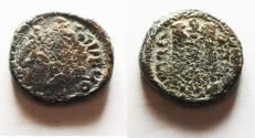 Ancient Coins - ISLAMIC, Umayyad Caliphate (Arab–Byzantine coinage). Circa 680s-700/10. Æ Fals . 'Pseudo-Damascus' mint, probably in northern Jordan or Palestine.
