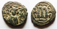 World Coins - ARAB BYZANTINE. HIMS ( EMESSA ). Anonymous 7th cent AD. AE Fals.