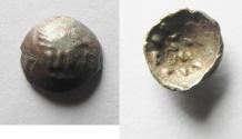 Ancient Coins - Arabia Felix. MDN BYN. King of Saba. Himyarites. 60 - 100 A.D. Scyphate AR Fractional Unit. VERY RARE