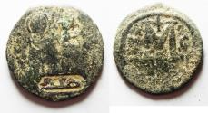 World Coins - ISLAMIC, Umayyad Caliphate. Uncertain period (pre-reform). AH 41-77 / AD 661-697. Æ Fals