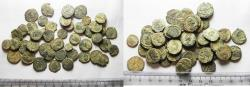 Ancient Coins - LOT OF 45 ANCIENT BRONZE ROMAN COINS