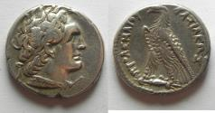 Ancient Coins - Egypt. Ptolemaic kings. Ptolemy VI Philometor (first sole reign, 180-170 BC). AR tetradrachm (26mm, 13.86g) Alexandria mint.