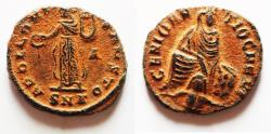 Ancient Coins - Pagan Coinage. Time Of Persecution: Maximinus II. 1/4 Nummus. A.D. 312.