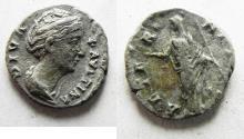 Ancient Coins - ROMAN IMPERIAL. FAUSTINA I SILVER DENARIUS