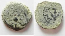 Ancient Coins - Judaea, Alexander Jannaeus, 103-76 BC, AE Prutah