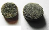 Ancient Coins - ROMAN  BRONZE WEIGHT OF 1 NUMISMATA. 4.56GM