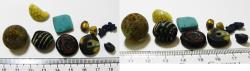 Ancient Coins - ANCIENT EGYPT, LOT OF GLASS BEADS. 1400 B.C - 600 A.D