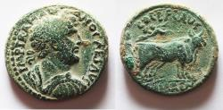Ancient Coins - HIGH QUALITY. BEAUTIFUL GREEN SURFACE: JUDAEA, Caesarea Maritima. Hadrian. AD 117-138. Æ 30
