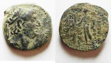 Ancient Coins - AS FOUND. SELEUKID EMPIRE. DEMETRIOS III AE 18