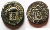 Ancient Coins - BEST EXAMPLE OUT THERE: ONLY COIN ISSUED IN THE NAME OF CLAUDIA, NERO'S DAUGHTER: CAESAREA PANIAS. DIVA POPPAEA & DIVA CLAUDIA UNDER NERO. AE 20