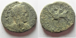 Ancient Coins - Decapolis. Antiochia ad Hippum under Elagabalus (AD 218-222). AE 25mm