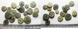 Ancient Coins - AS FOUND: LOT OF 19 ANCIENT ROMAN BRONZE COINS