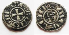World Coins - 	DAVID'S TOWER: Crusaders, Latin Kingdom of Jerusalem. Baldwin III (1143-1163). BI Denier