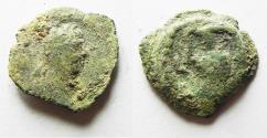 Ancient Coins - AS FOUND. EGYPT. ALEXANDRIA. TRAJAN AE DICHALKON