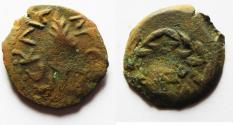 Ancient Coins - JUDAEA. Porcius Festus Procurator under Nero AE Prutah. 58/59 C.E.