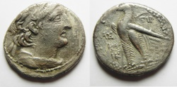 Ancient Coins - GREEK. Seleukid kings. Antiochos VIII Grypos (121/0-96 BC). AR tetradrachm (28mm, 12.99g) Ascalon mint. Struck in SE 196 (117/16 BC).