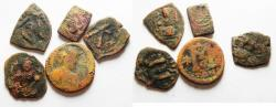 Ancient Coins - LOT OF 5 BYZANTINE/ ARAB-BYZANTINE AE FALS COINS