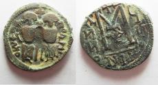Ancient Coins -  ISLAMIC. Umayyad Caliphate. Time of 'Abd al-Malik (AH 65-86 / AD 685-705). AE fals (25mm, 7.61g). Scythopolis (Baysan) mint.