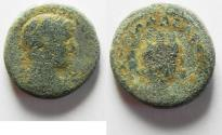 Ancient Coins - A CITY COIN FROM THE DECAPOLIS / JUDAEA. AE 22