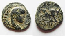 Ancient Coins - ORIGINAL DESERT PATINA: ARABIA. PETRA. ELAGABALUS AE 20