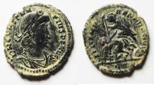 Ancient Coins - ORIGINAL DESERT PATINA. CONSTANTIUS II AE