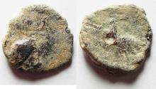 Ancient Coins - GREEK OR NABATAEAN LEAD TOKEN . ZEUS? EAGLE.