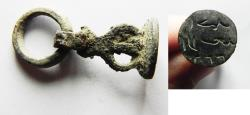 Ancient Coins - OTTOMAN BRONZE SEAL. DATED AH1244. 1828 A.D